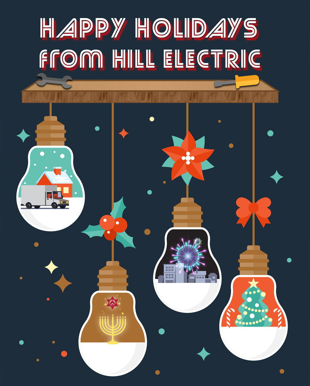 Happy Holidays from Hill Electric!