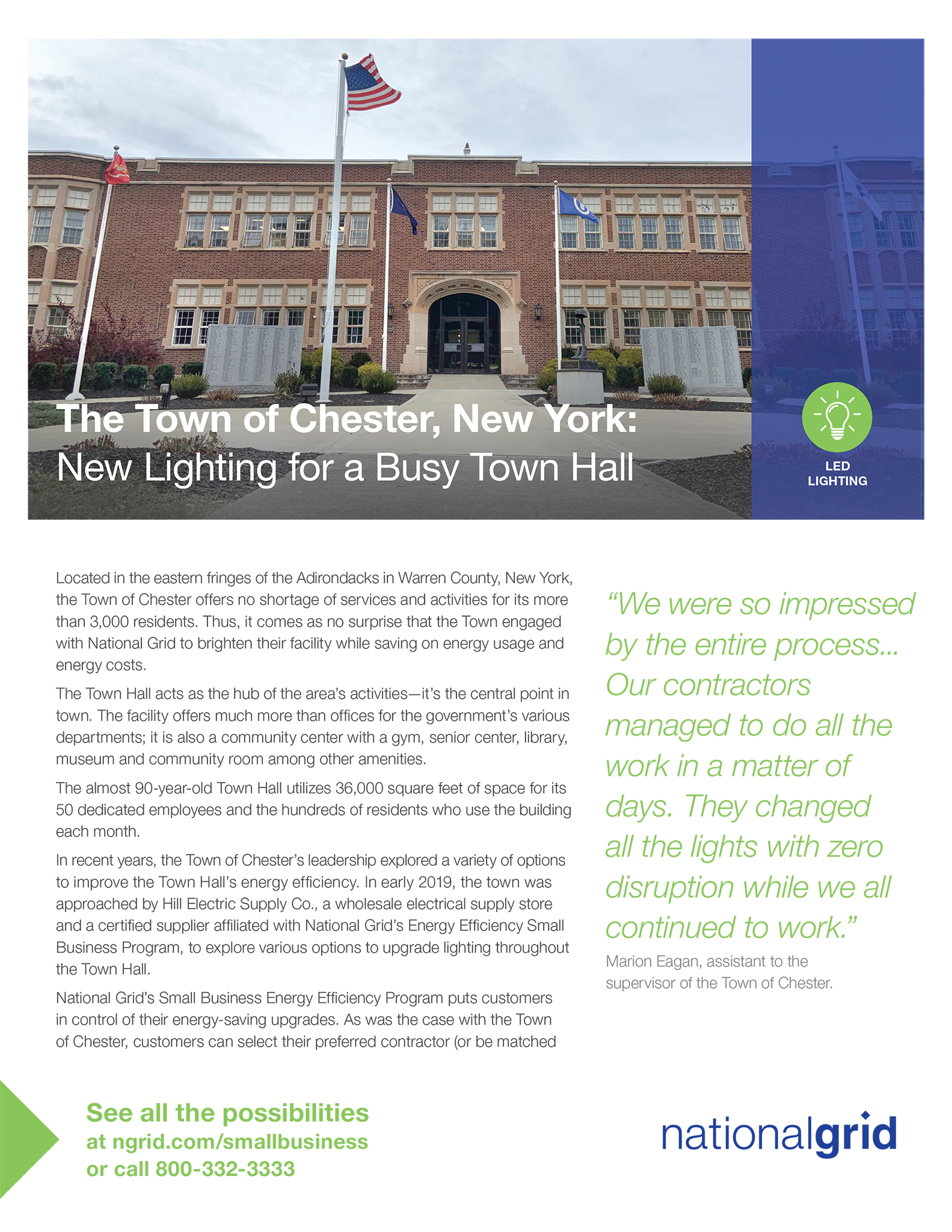 New Lighting for a Busy Town Hall: Chester, NY